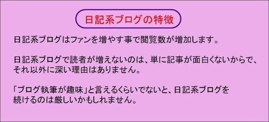日記系ブログの特徴